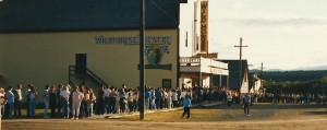 People waiting to enter the Wild Horse Theatre to see our shows formed huge lineups