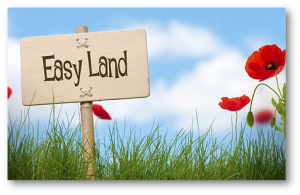 Easy Land sign