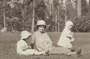 My aunt, Ollie, Ethel Skinner (their mom) and my mom, Dori (circa 1920)