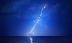 The first crack of lightning heralded a huge storm