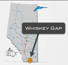 Whiskey Gap was near the USA border