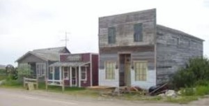 Some original buildings in Whiskey Gap